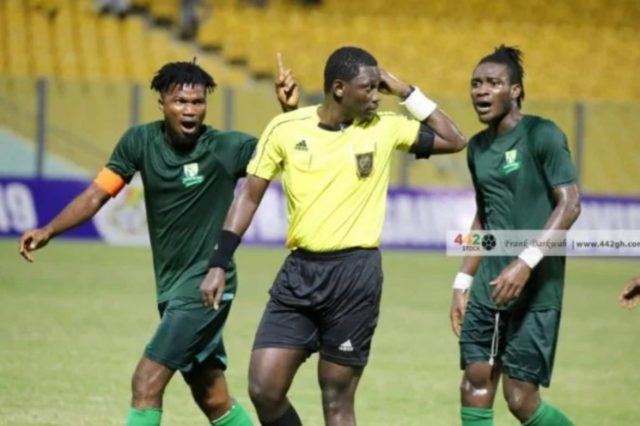 Referee Maxwell Kofi Owusu has been suspended from football and all football related activities for the rest of the season.