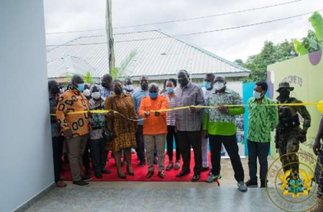 Akufo-Addo commissions Gh¢6.2 Million shoe manufacturing factory in Akuapem North District